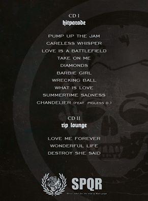 Tracklist Hitparade special ed